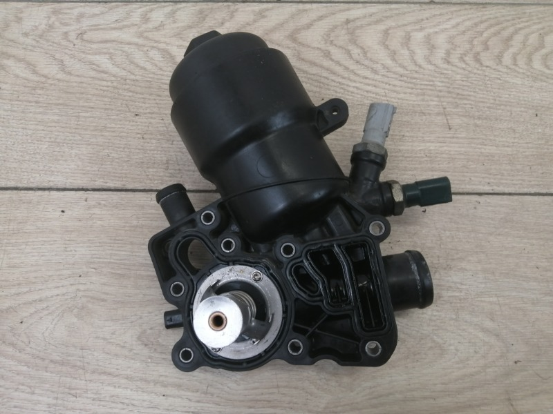 Корпус масляного фильтра в сборе с термостатом Cayenne 2012 958 (92A) 3.0TDI CRCA