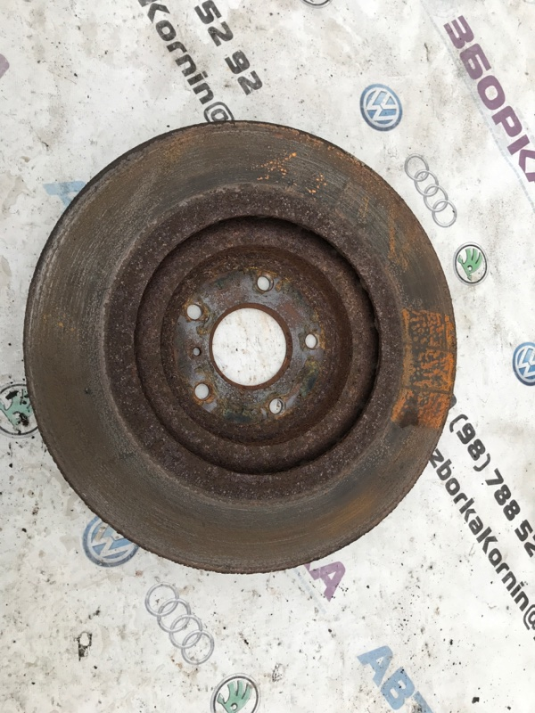 Тормозной диск передний правый Infiniti Q50 2014 год 3.7L Б/У