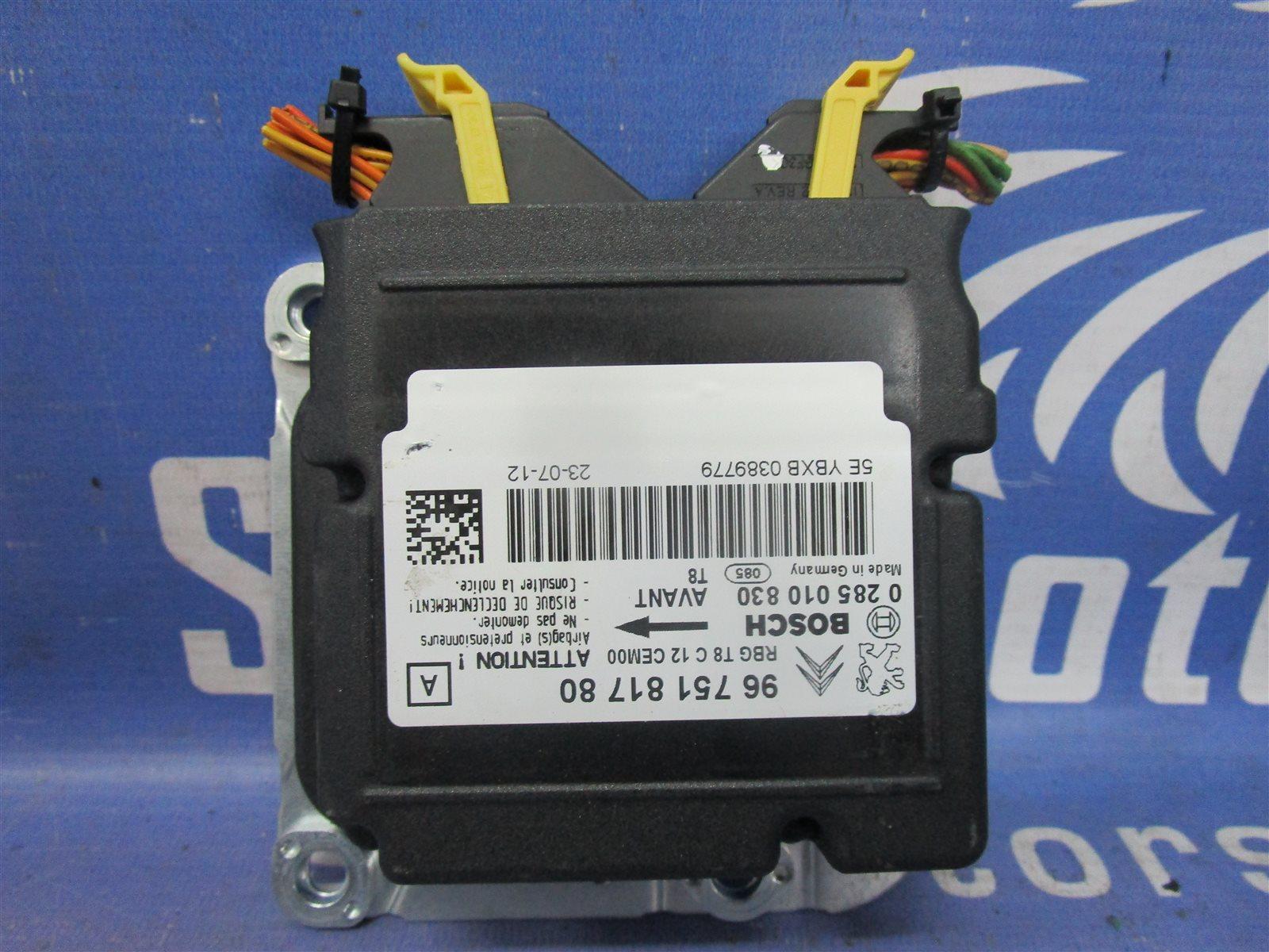 Блок управления аирбаг Peugeot 3008 2013 EP6CDT 10 FJBW 9675181780 контрактная