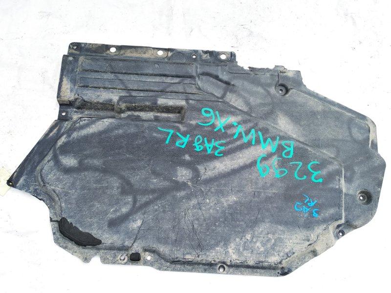 Защита задняя левая BMW X6 11.2008 E71 M57N2 51757158405 контрактная