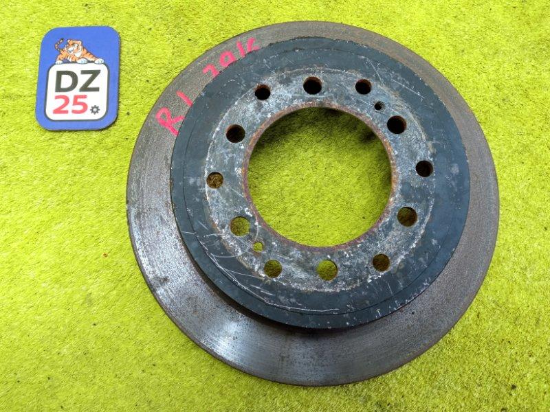 Тормозной диск задний левый TOYOTA LAND CRUISER PRADO 2001 KDJ90 1KDFTV контрактная
