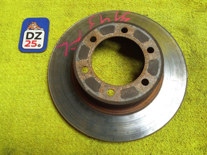 Тормозной диск передний левый TOYOTA HILUX SURF 1999 RZN185 5VZFE 4351235210 контрактная