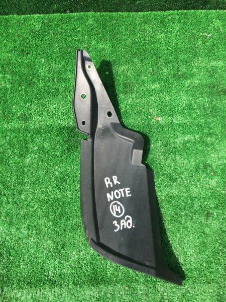 Подкрылок задний правый Nissan Note 2012 E12-047676 HR12DE контрактная