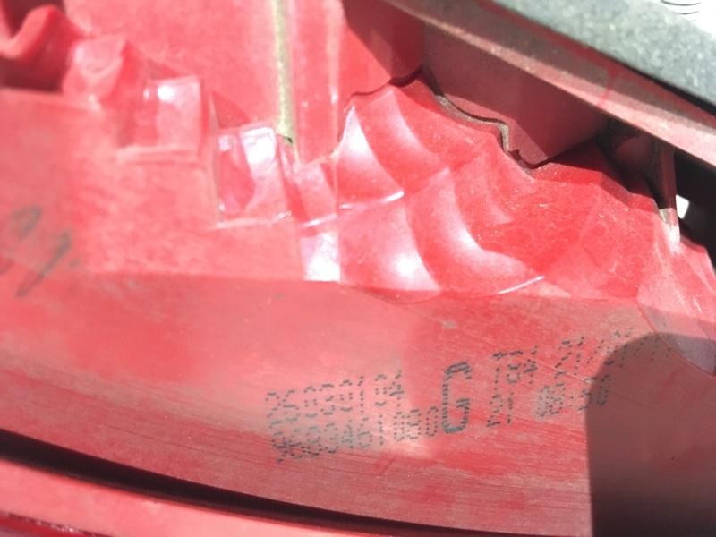Фонарь левый 3008 2012 1 1.6