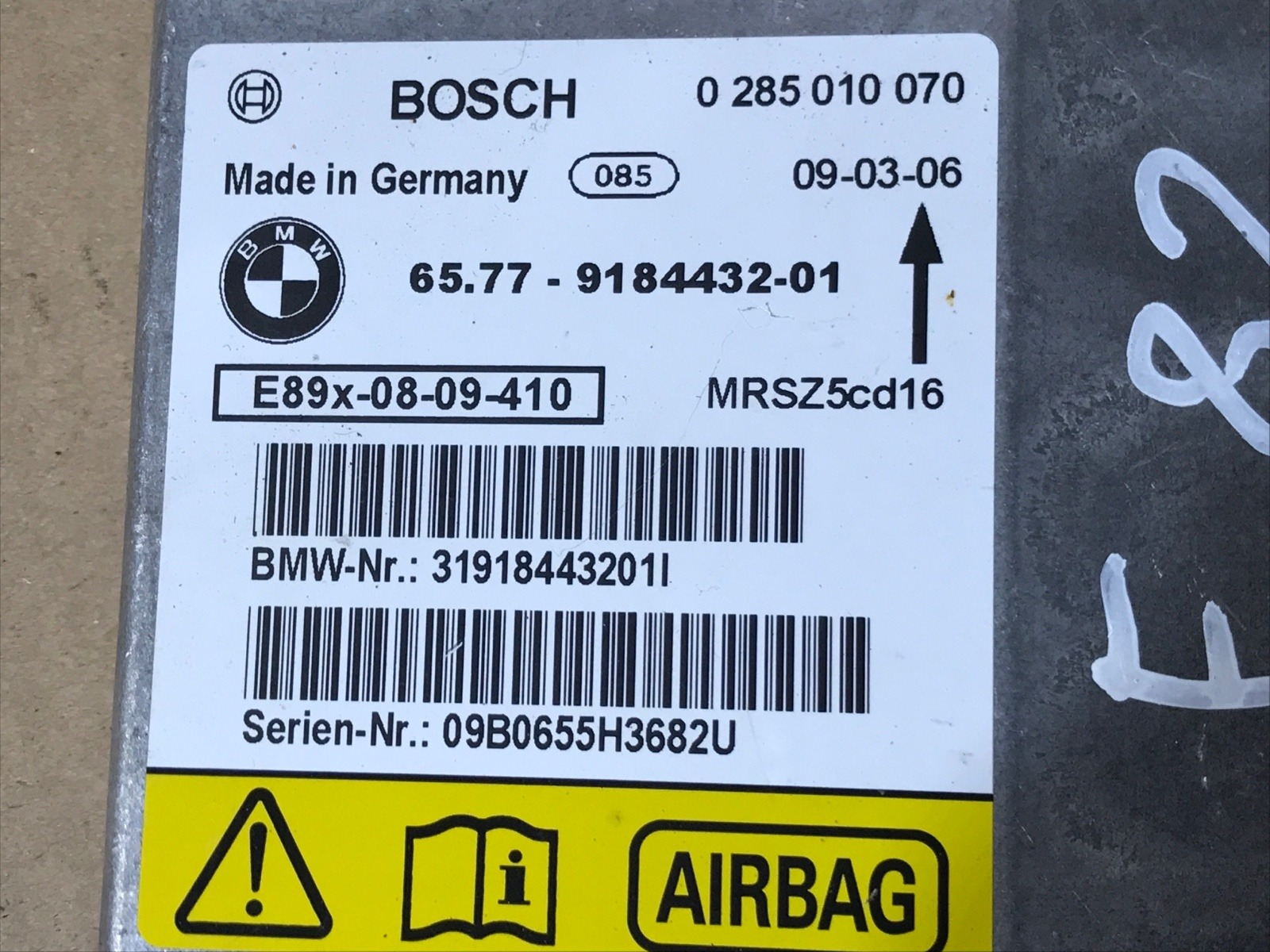 Блок управления аирбаг 1-Series 2009 E82 N54B30