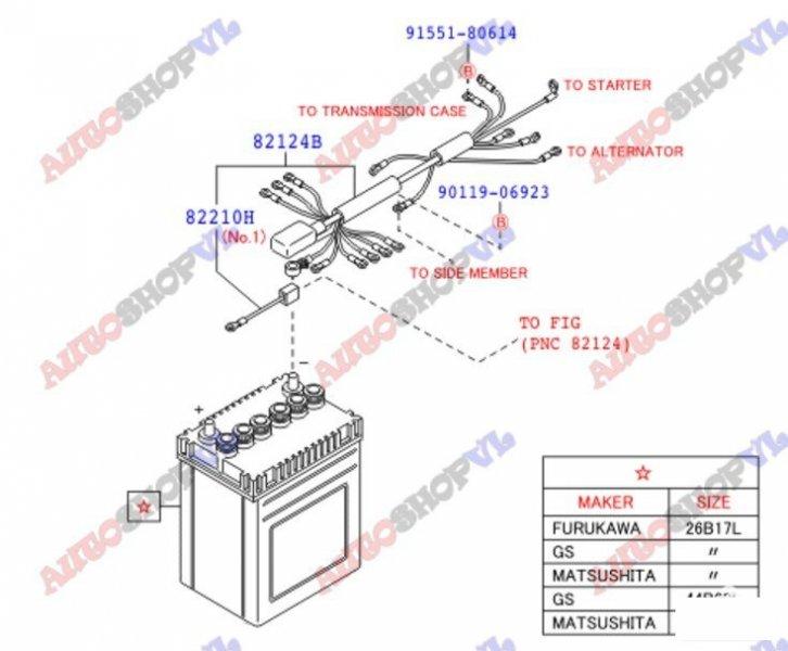 Электропроводка салона DAIHATSU HIJET CARGO S321V KFVE 82122-B5230 контрактная