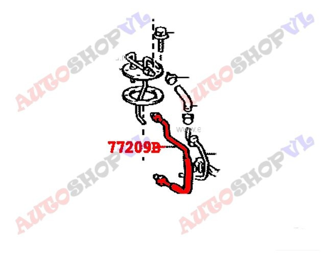 Шланг топливный TOYOTA SPRINTER CARIB AE111 4AGE 77209-12080 контрактная