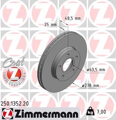 Тормозной диск передний передний FORD S40 2011 250135220 новая