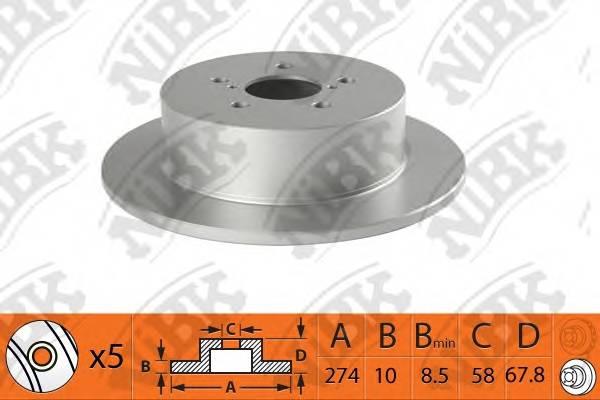 Тормозной диск задний задний SUBARU Legacy BL EJ20 rn1509 новая