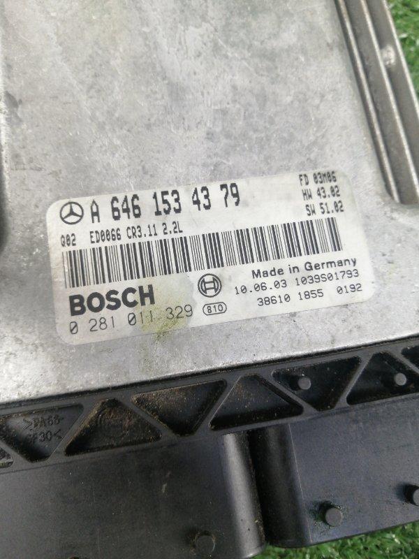 Блок управления двигателем E-Class 2003 w211 OM646