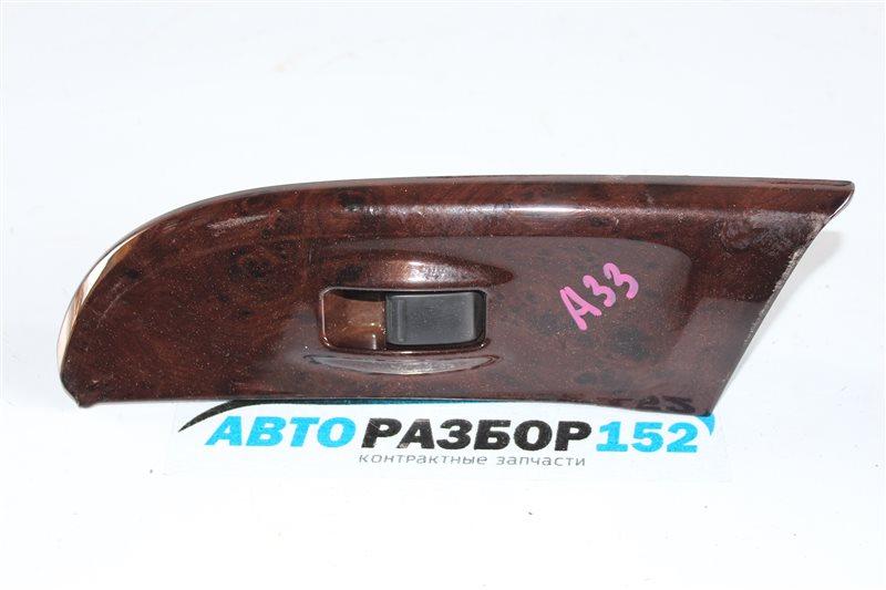 Кнопка стеклоподъекника передняя левая Nissan Cefiro 1998-2003 a33 VQ20DE 254112Y900 контрактная