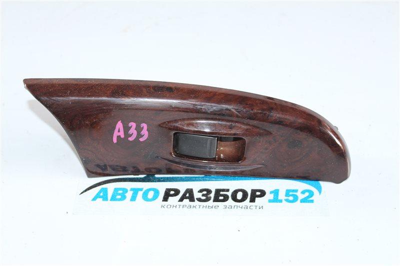 Кнопка стеклоподъекника передняя правая Nissan Cefiro 1998-2003 a33 VQ20DE 254112Y900 контрактная