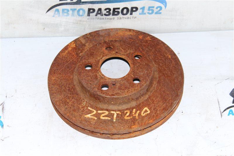 Тормозной диск передний правый TOYOTA Allion 2001-2007 ZZT240 1ZZFE 4351220711 контрактная
