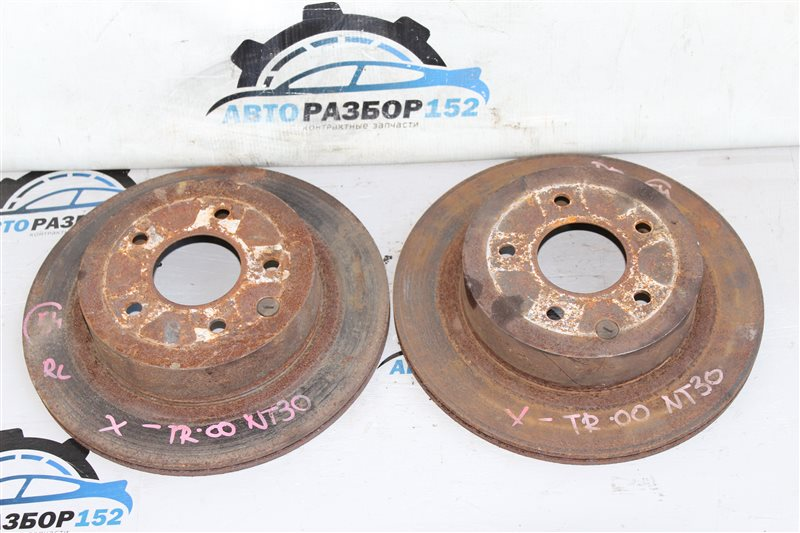 Диск тормозной задний Nissan X-Trail 2002-2007 NT30 QR20DE 432068H304 контрактная