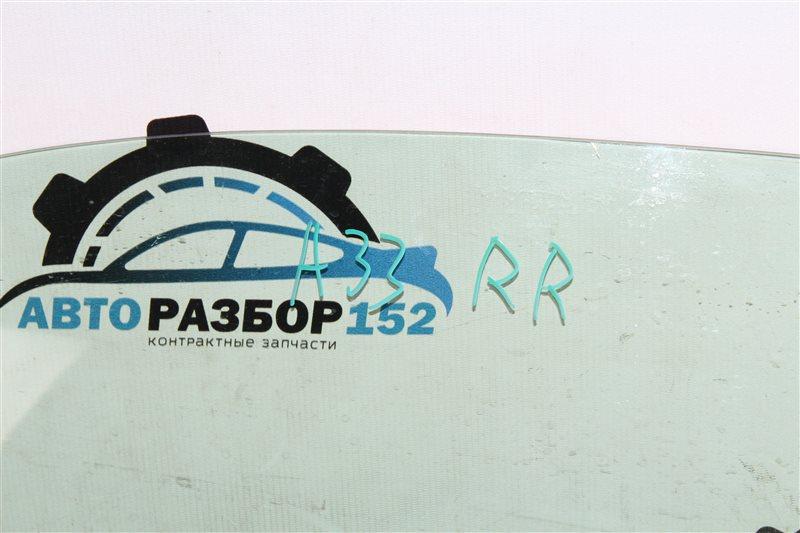 Стекло двери заднее правое Cefiro 1998-2003 a33 VQ20DE