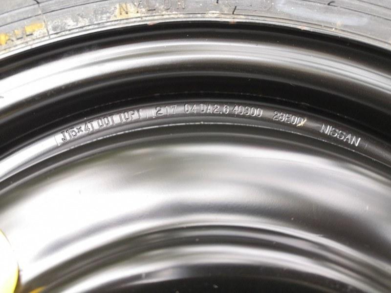 Колесо запасное (докатка) Nissan Almera N16 QG15DE