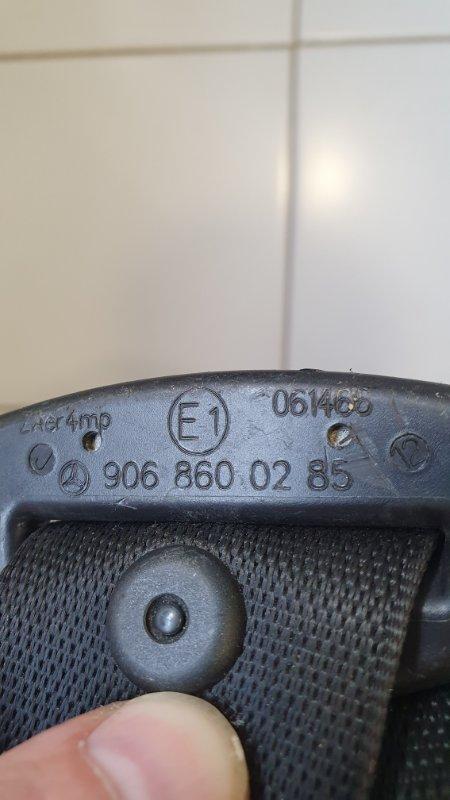 Ремень безопасности передний Crafter 2006-2016 2E