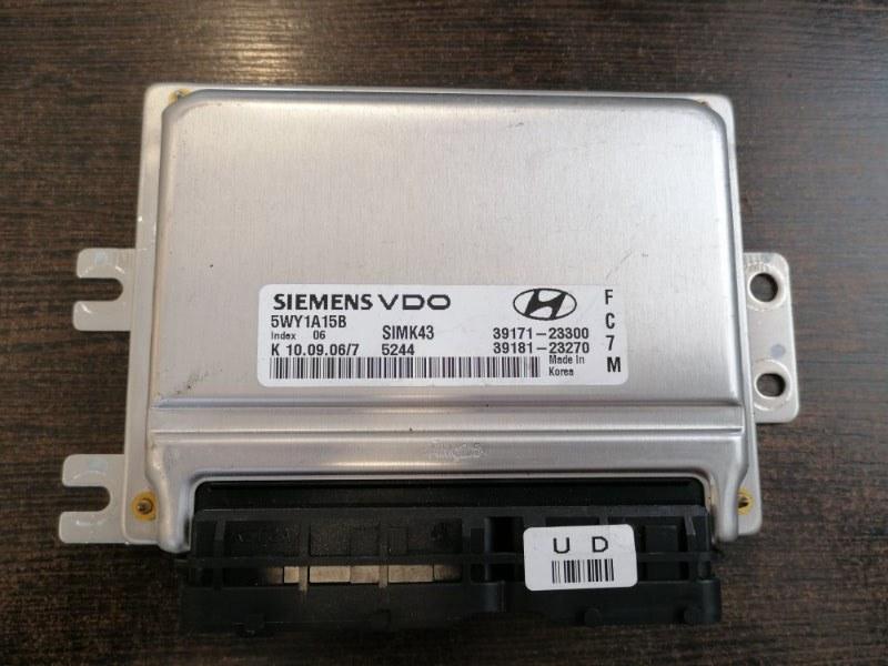Блок управления двигателем Hyundai Tucson 2010 JM 2.0 3918123270 контрактная