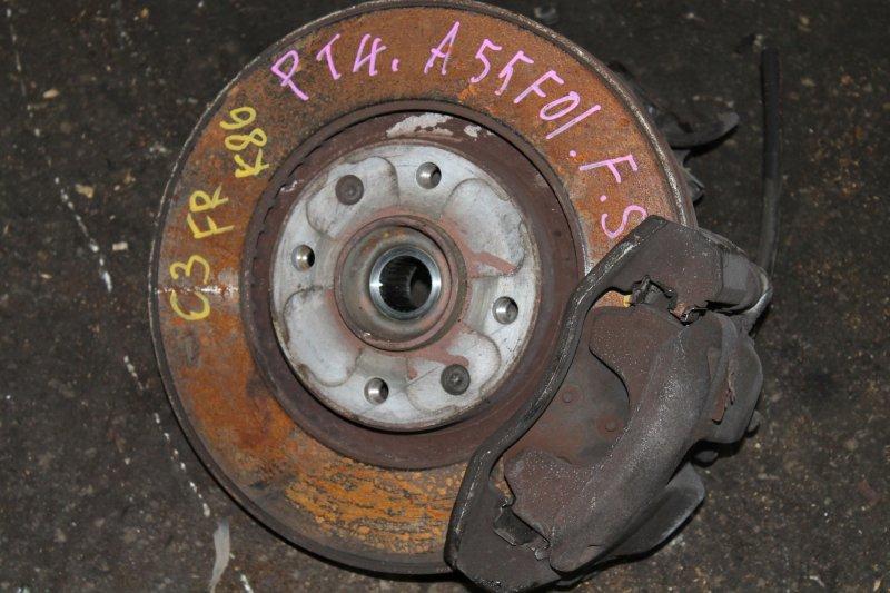 Тормозной диск передний правый CITROEN C3 2011 FS9 EP6C 424918 контрактная