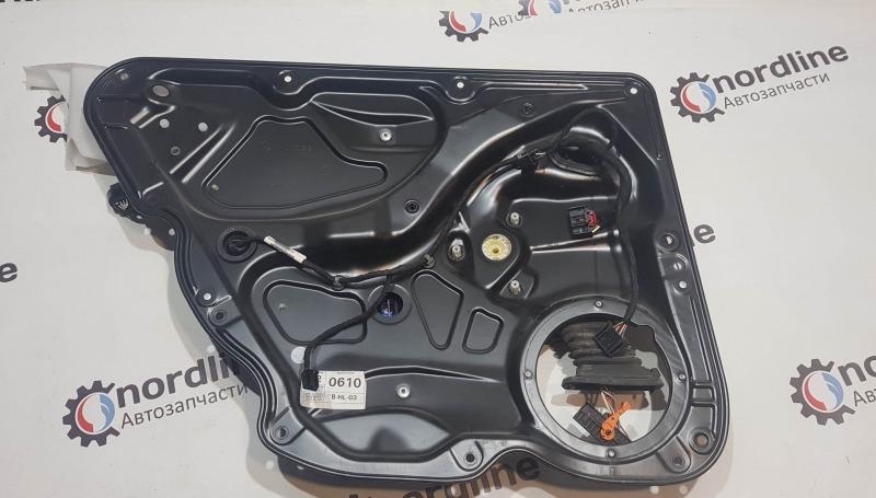 Механизм стеклоподъёмника задний левый Volkswagen Passat B6 2008 универсал 1.9 BXE 3C9839461L Б/У