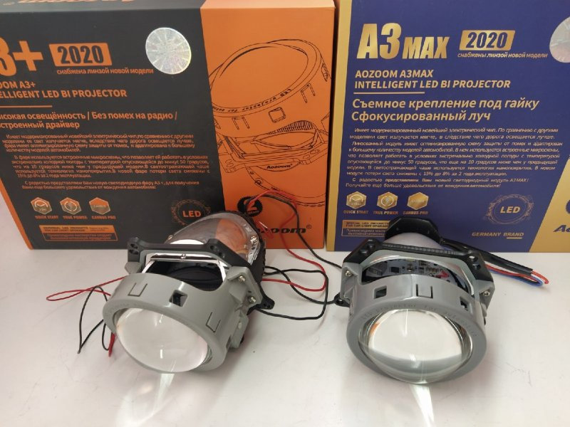 Линзы фары Smart Forfour Bi-LED Hella3r Aozoom