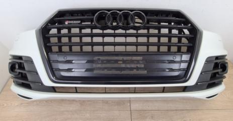 Бампер в сборе передний Audi Q7 S-line Black edition 2015-
