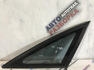 Стекло боковое заднее правое Audi A6 2013 года