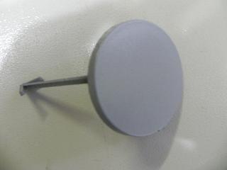 Заглушка  буксировочного крюка  переднего бампера KIA RIO (2011-)