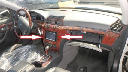 Запчасть консоль магнитофона Mercedes-Benz S-CLASS 1998