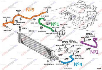 Патрубок системы охлаждения TOYOTA PRIUS 12.2002