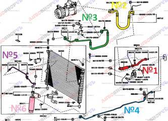 Осушитель системы кондиционирования TOYOTA CRESTA 03.1995