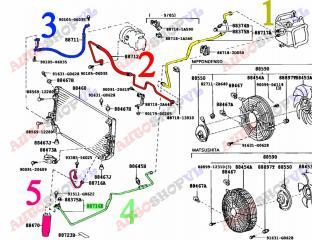 Осушитель системы кондиционирования TOYOTA COROLLA LEVIN