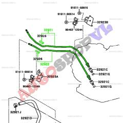 Трубка охлаждения акпп TOYOTA VISTA ARDEO 06.2000