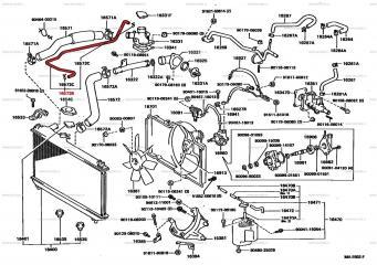Патрубок системы охлаждения TOYOTA CAMRY PROMINENT