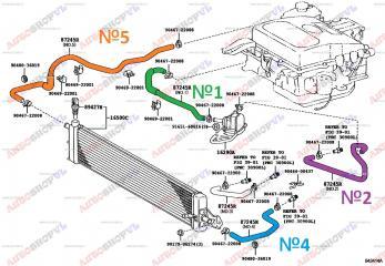 Патрубок системы охлаждения TOYOTA PRIUS 04.2002