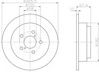 Тормозной диск задний задний SUBARU Impreza WRX STI 2000 - 2003 GDB новая