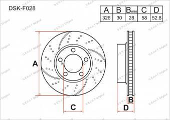 Тормозной диск передний передний SUBARU Impreza WRX STI 2000 - 2007