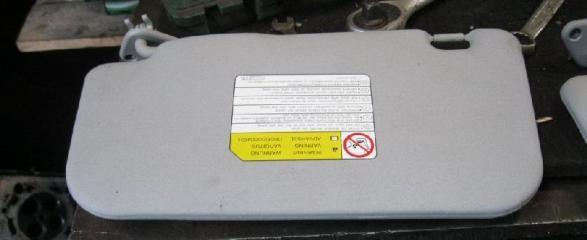 Козырек солнцезащитный правый MITSUBISHI LANCER 10 2007