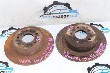 Запчасть тормозной диск задний Nissan Teana 2003-2007