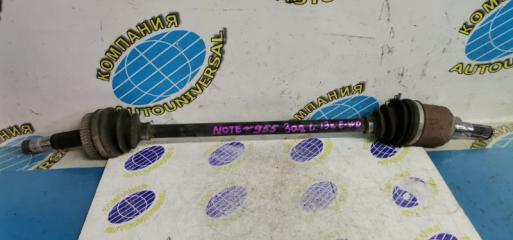 Привод задний левый Nissan Note 2013