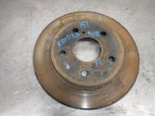Запчасть тормозной диск задний правый Toyota Corolla 2012